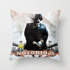 Notorious B.I.G Throw Pillow