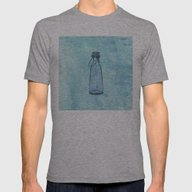 Bottle Blue Mens Fitted Tee Athletic Grey SMALL