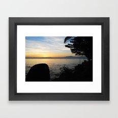 Jungle Sunset Framed Art Print