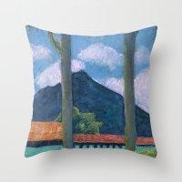 Antigua Park Bench Throw Pillow