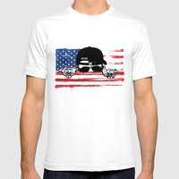 Hiding Behind Bars Mens Fitted Tee White SMALL