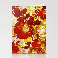 Floral In Red Stationery Cards