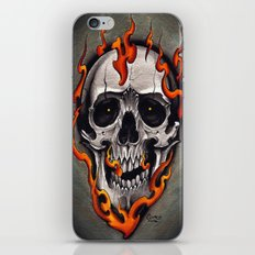 Skull in Flames iPhone & iPod Skin