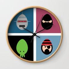 Robot Ninja Cthulhu Pirate Wall Clock