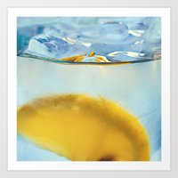 Refreshing Lemon Drink Art Print