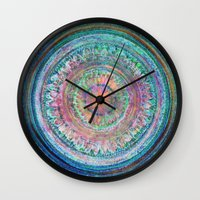 Pink And Turquoise Manda… Wall Clock