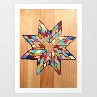 Star Quilt Block Art Print