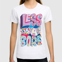 Less is a Bore Womens Fitted Tee Ash Grey SMALL