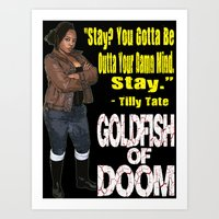 Goldfish of Doom - Tilly Stay Art Print