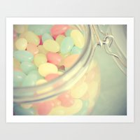 Tropical Jelly Beans Art Print