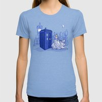 Come Away With Me Womens Fitted Tee Tri-Blue SMALL