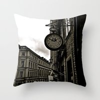 Old Fashion Time Throw Pillow
