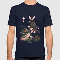 Crow Serie :: Easter Crow Mens Fitted Tee Navy SMALL