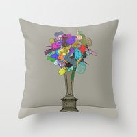 Fleur de Mechanique Throw Pillow