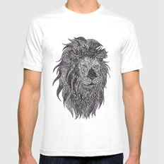 LEO White Mens Fitted Tee SMALL
