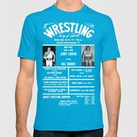 #6-B Memphis Wrestling W… Mens Fitted Tee Teal SMALL