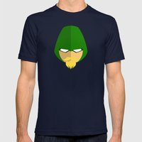 Green Arrow Mens Fitted Tee Navy SMALL