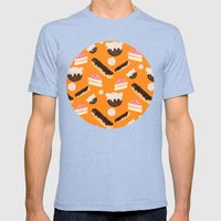Sweet Things (on Orange) Mens Fitted Tee Tri-Blue SMALL
