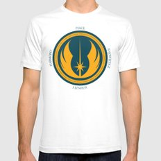 The Jedi Code SMALL Mens Fitted Tee White