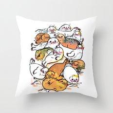 Seal family Throw Pillow