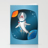 Shark In Space Stationery Cards