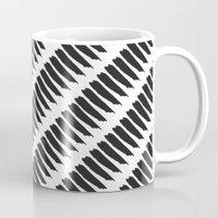 Black and White Tiger Stripes Mug
