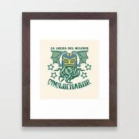 EL CTHULuchador Framed Art Print