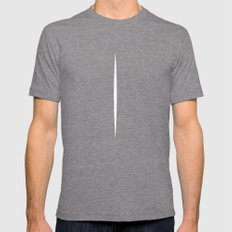 LUCIO FONTANA Mens Fitted Tee Tri-Grey SMALL