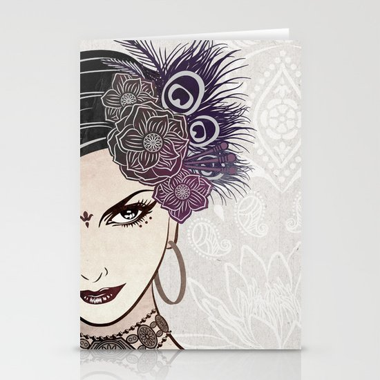 Belly Dance Stationery Card