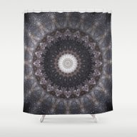 Shower Curtain featuring Suki (Space Mandala) by Elias Zacarias