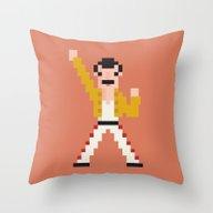 Pixel F Throw Pillow