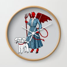 Devil With A Blue Dress On Wall Clock