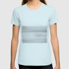 in a soft motion Womens Fitted Tee Light Blue SMALL