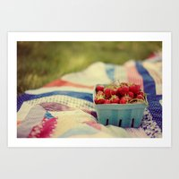 The Picnic Art Print