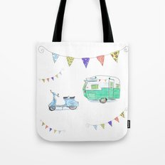 June Cleaver Goes Camping Tote Bag