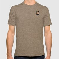 Portrait of a Boston Terrier Mens Fitted Tee Tri-Coffee SMALL