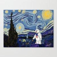 Stay Puff Night Canvas Print