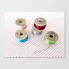 Silk Thread Spools Canvas Print