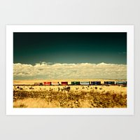 Box Cars Art Print