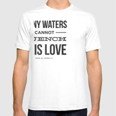 Many Waters Mens Fitted Tee SMALL White