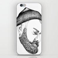 CAP & BEARD iPhone & iPod Skin