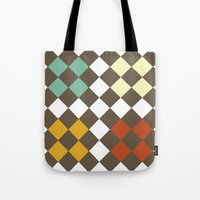 Checkers Fall Tote Bag