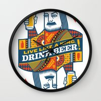 King of Beers Wall Clock