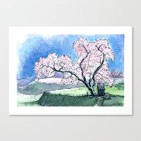 Hillside Blossom Canvas Print