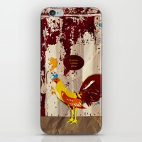 The Rooster Still Bites iPhone & iPod Skin