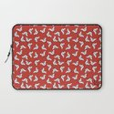 Birds {All birdie around - red} Laptop Sleeve