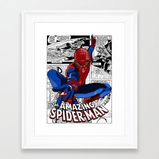 Spider-Man Comic Framed Art Print