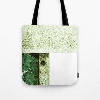 White Green Concrete Tote Bag