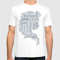 Elsa  Mens Fitted Tee White SMALL