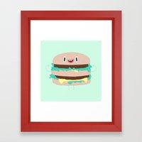 Burger man Framed Art Print